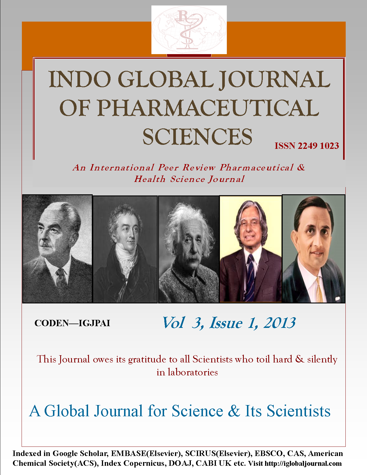 Cover Page IGJPS, Vol 3, Issue 1, 2013